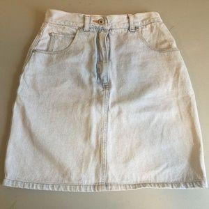 Dresses & Skirts - Friends White Jean Skirt